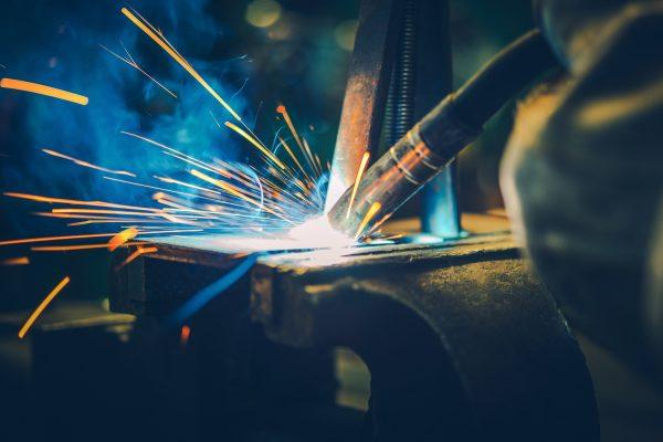 Metal Welding Closeup