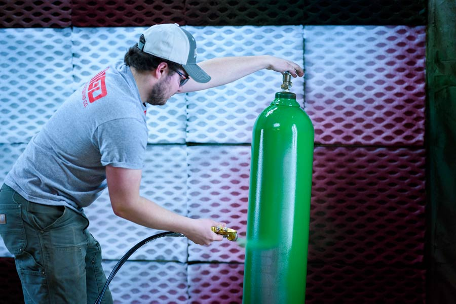Cylinder Blasting and Painting